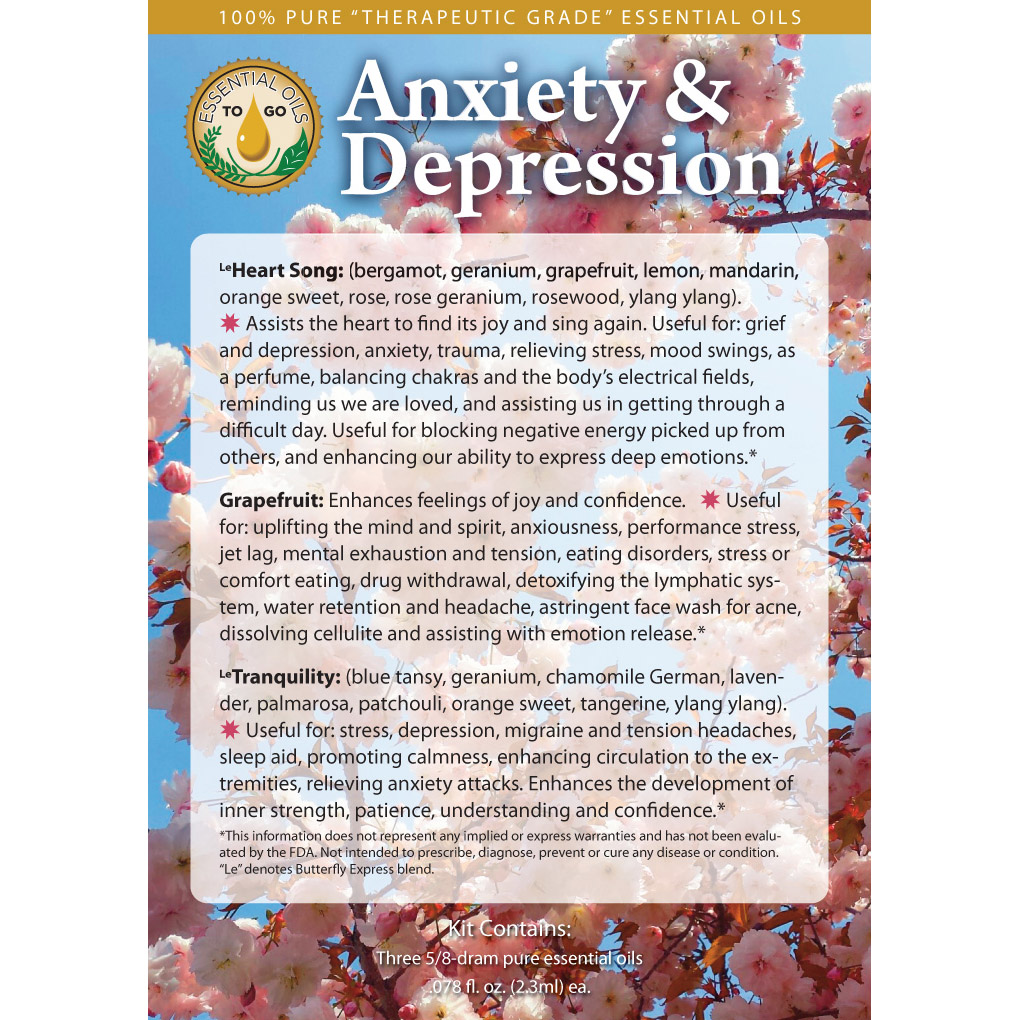 Anxiety And Depression Kit Essential Oils To Go